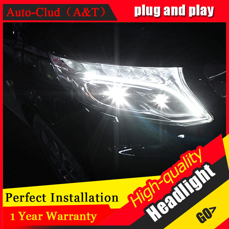 Auto Clud Car Styling For Benz vito headlights 2017 For vito head lamp led DRL front Bi-Xenon Lens Double Beam HID KIT auto part style led head lamp for benz w163 ml320 ml280 ml350 ml430 2002 2005 led headlights drl hid bi xenon lens low beam