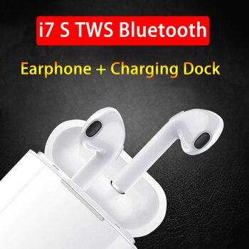 i7s-TWS Bluetooth Earphone Stereo Earbuds Wireless Headphones With Charging Box Mic PK i9s i10 i11 i12 i13 i19 air pods Earpiece