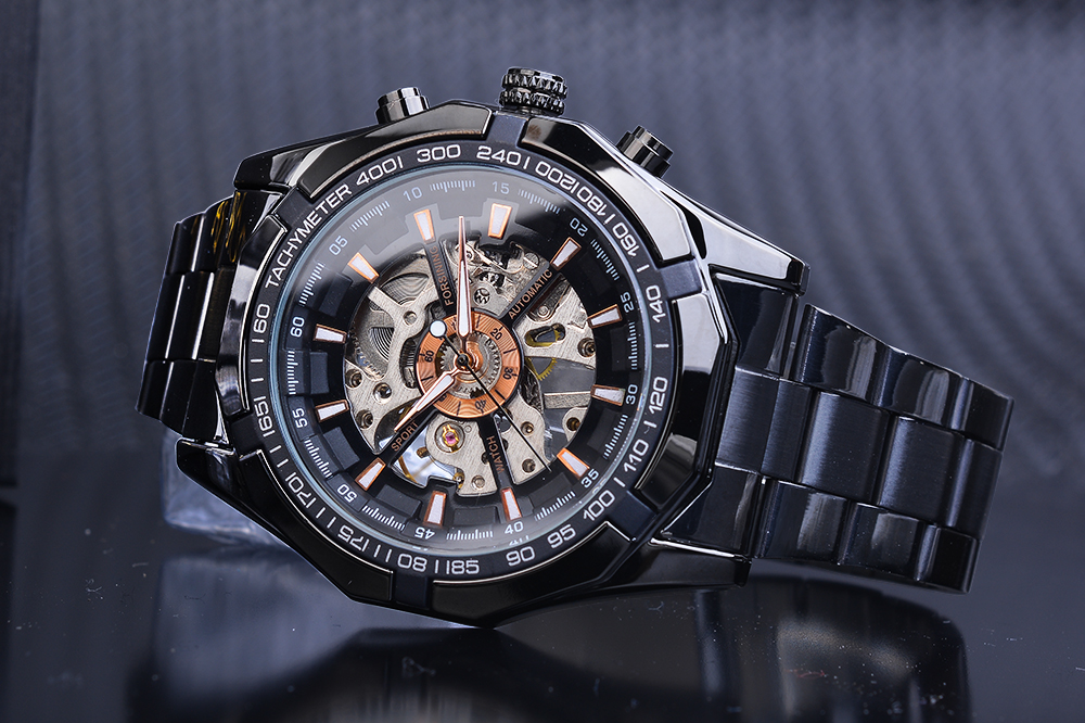 HTB1leLcXgmH3KVjSZKzq6z2OXXaC Forsining 2019 Stainless Steel Waterproof Mens Skeleton Watches Top Brand Luxury Transparent Mechanical Sport Male Wrist Watches