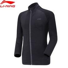 Li-Ning Мужская серия бадминтон, куртки, обычная посадка 86% полиэстер 12% спандекс, черная подкладка, спортивный свитер на молнии AWDN953 MWW1523