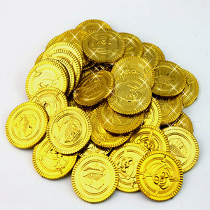 100pcs Free shipping Pirate Game Coin Child Plastic Toy Coin Game Coin Chips Fashion Children Toy Math Kid Toys