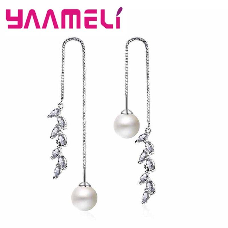 FAVOT New Fashion Girl Earrings Creative Cat Ears Shape Pearl Earrings Temperament Banquet Jewelry Accessories Silver