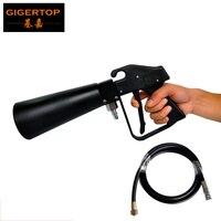 Tiptop TP T01 novo design super mini co2 dj gun uma mão controle de pouco peso handhold alto volume 3 metro mangueira gás rápida conectar|Efeito de Iluminação de palco|   -