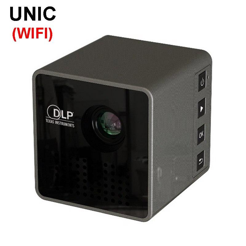 WZATCO P1 + WIFI Mobile Senza Fili di Sostegno Del Proiettore Miracast DLNA Tasca Film A Casa led DLP MINI Proiettore Proyector Beamer