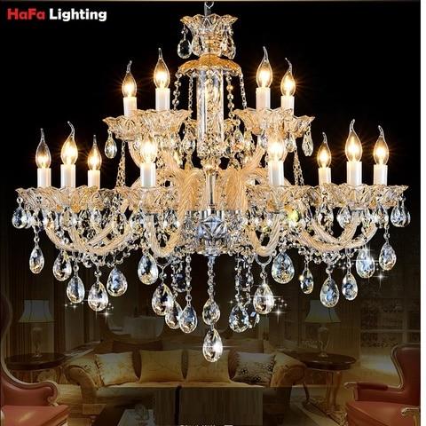 iluminacao do candelabro cristal moderna exportacao