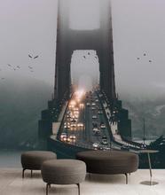 3D Wallpaper Murals Bridge spectacular scenery 3D Wallpaper Living room Desktop Wallpaper Background