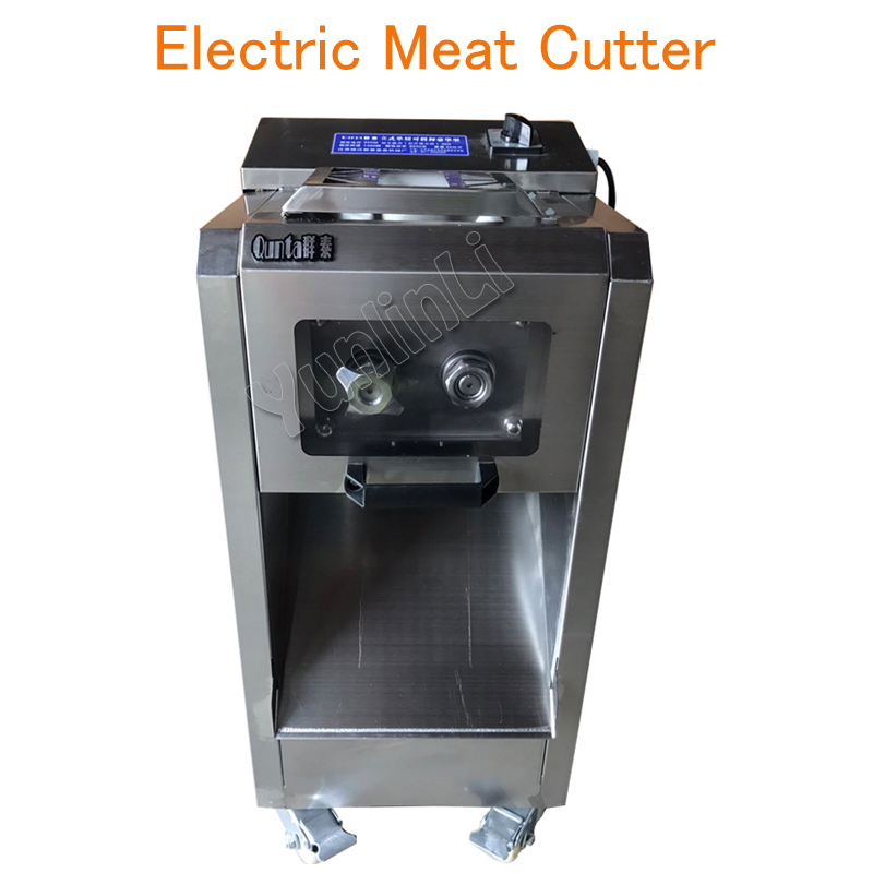 Electric Meat Cutter Stainless Steel Meat Slicer Commercial Meat Cutting Machine Removable Blade 2200W 300kg/h blade for meat cutting machine food processors with blade knife for commercial or home use qw