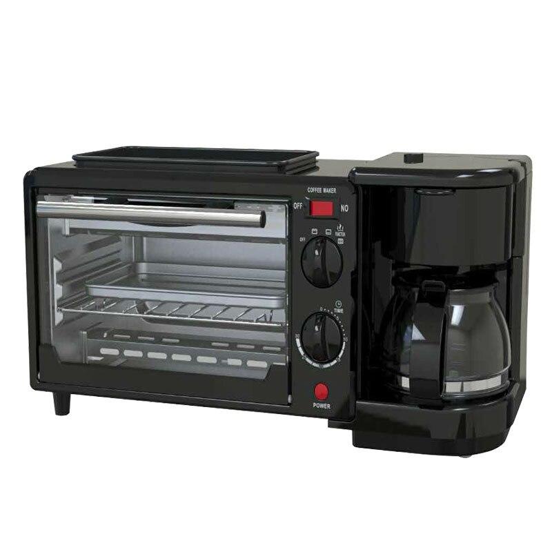3 en 1 petit déjeuner goutte à goutte café plat à frire cuisson four à Pizza Machine