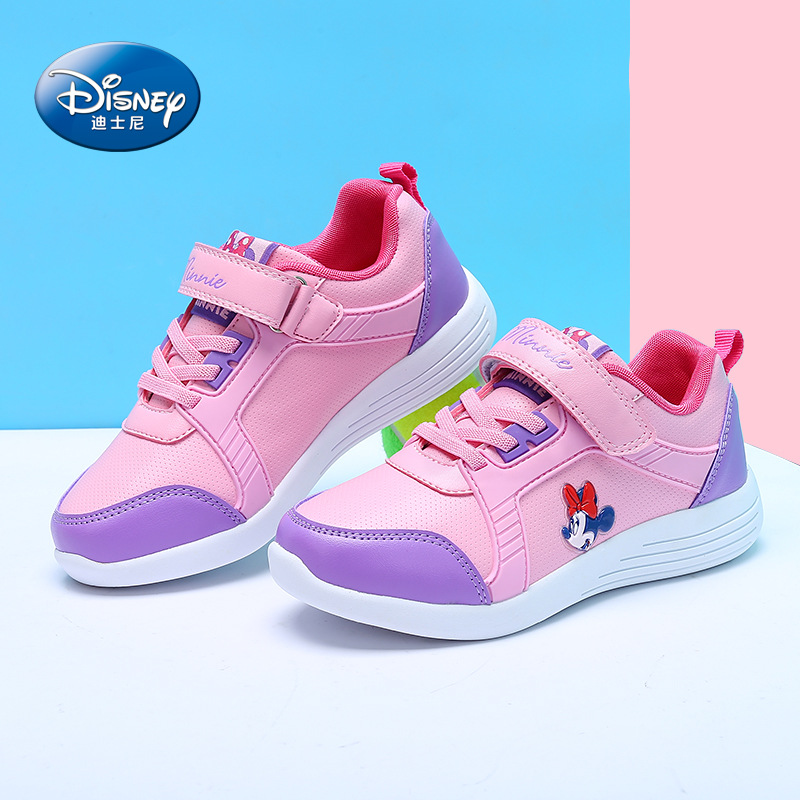 Disney cartoon Minnie children's shoes 2018 spring new non slip student shoes girls sports casual shoes Breathable size 31 37-in Sneakers from Mother & Kids    1