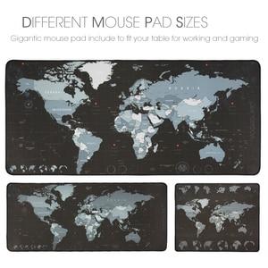 Image 2 - Duża podkładka pod mysz do gier gracz komputerowy podkładka pod mysz duża podkładka pod mysz gumowa powierzchnia mapa świata podkładka pod mysz klawiatura biurkowa xxl podkładka do gier pod mysz