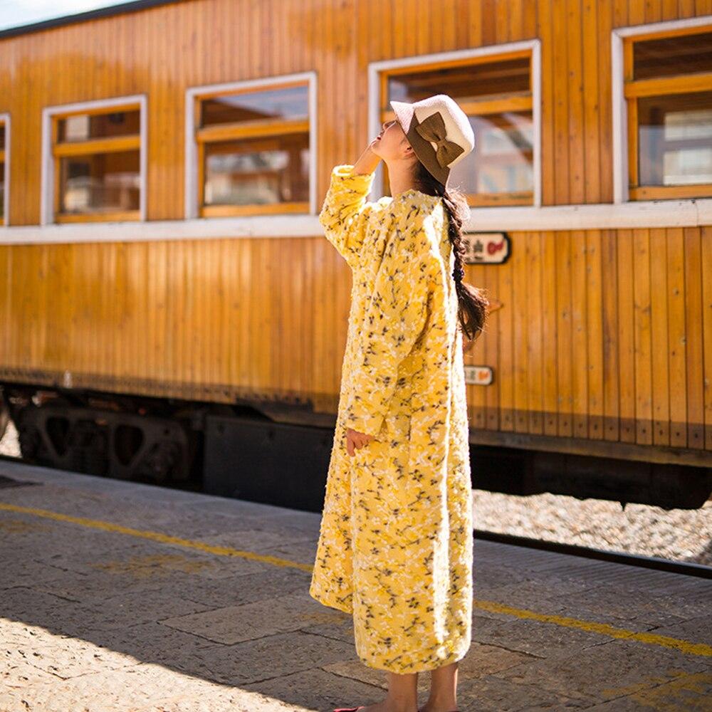 Johnature Frauen Wolle Kleid Drucken Floral Mode Warme 2019 Herbst Neue Vintage Dicke Hohe Qualität Frauen Roben Maxi Kleid-in Kleider aus Damenbekleidung bei  Gruppe 1