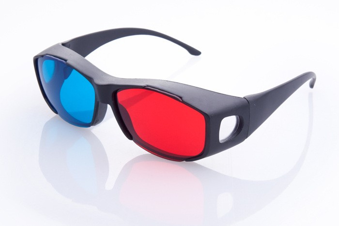 New Red Blue 3D <font><b>Glasses</b></font> <font><b>Anaglyph</b></font> <font><b>Framed</b></font> 3D Vision <font><b>Glasses</b></font> for Plasma TV Movie Dimensional free shipping500pcs a <font><b>set</b></font>