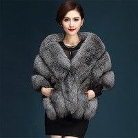 New High Quality luxury Faux fox fur imitation mink fur poncho bridal wedding dress shawl cape women vest fur coats Wholesale