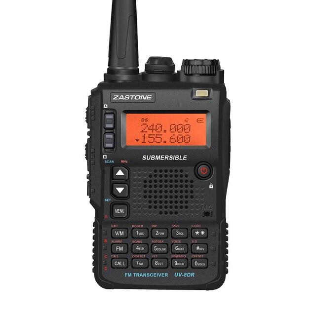 Zastone UV-8DR Portable Walkie Talkie 5W 136-174/240-260/400-520mhz Handheld Two Way Ham Radio FM Transceiver Communicator