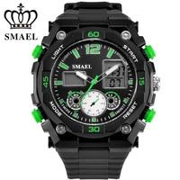 SMAEL Brand Sport Watch Men Digital LED Clock Military Army Men S Wristwatch 50M Waterproof Luxury