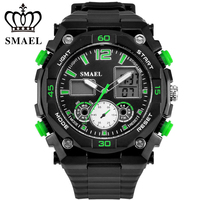 SMAEL Brand Sport Watch Men Digital LED Clock Military Army Men S Wristwatch 50M Waterproof Luxury