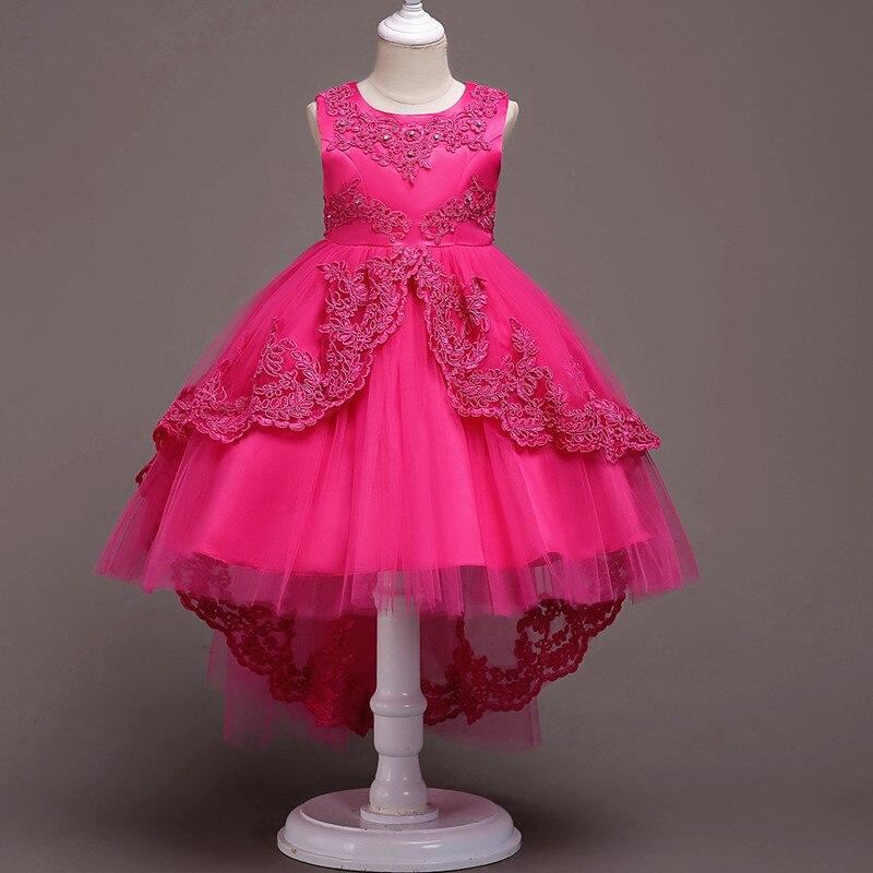 Ropa de niñas perla bordado de alta calidad vestido de boda de Navidad de los niños ropa de los niños bebé vestido de fiesta de las muchachas del vestido de la princesa