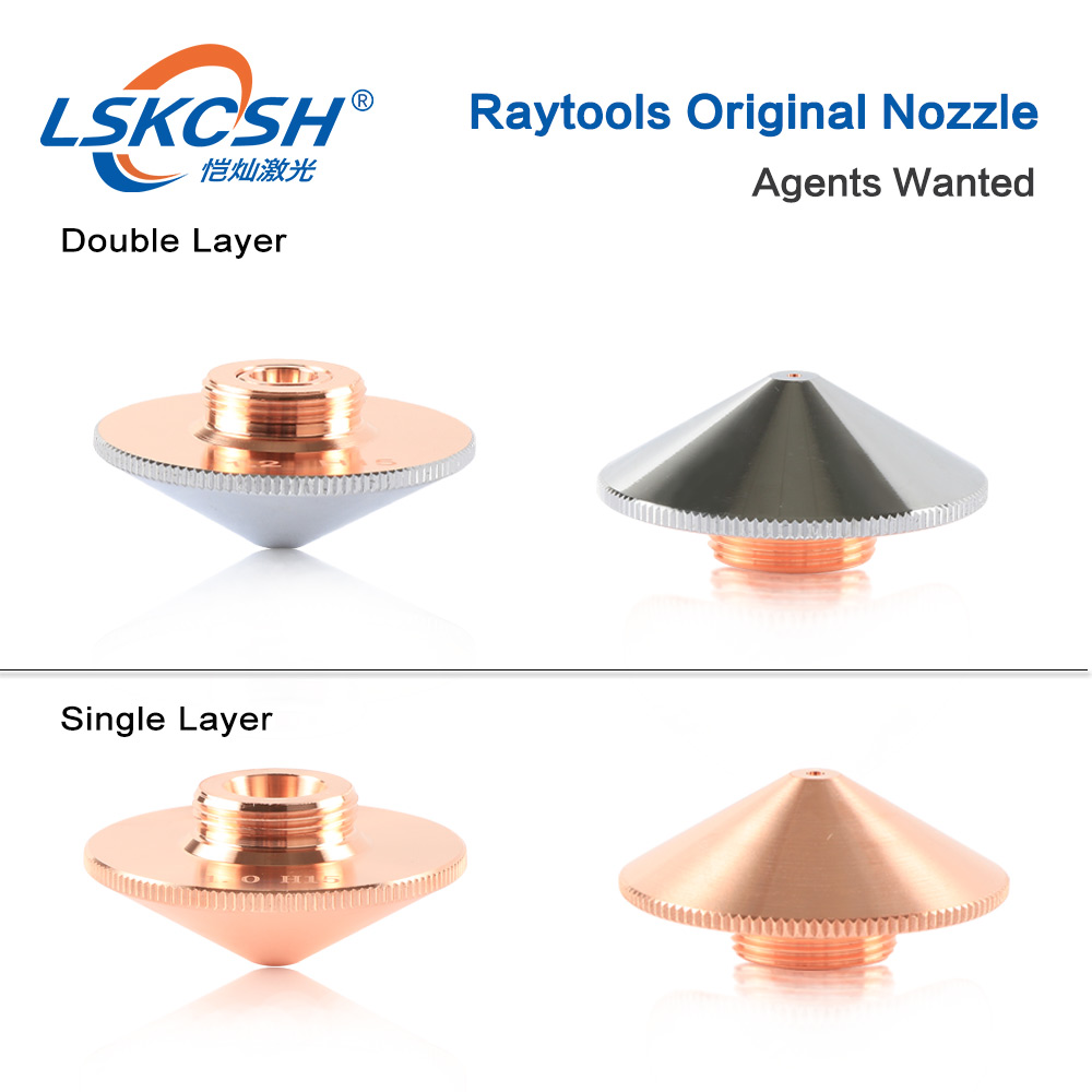 LSKCSH Laser Nozzle Single Layer /Double Layers Dia.32mm Caliber 0.8 - 5.0mm for bodor raytools laser conusmables wholesale