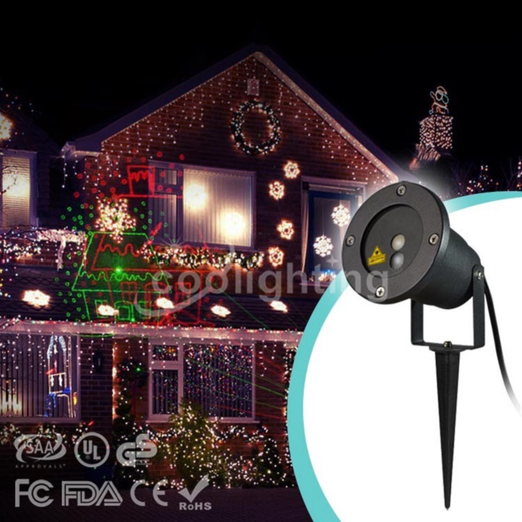 High quality new Christmas red and green waterproof laser lawn lamp Christmas landscape laser high quality single color all over the sky star waterproof outdoor laser lawn lamp christmas landscape light quality guarantee