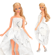 цены на High Quality Handmade New Evening Dress Accessories 1/6 Party Wedding For Barbie Clothes Fashion Skirt For Barbie Dolls Outfits  в интернет-магазинах