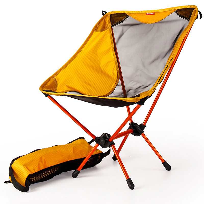 Garden Gaming Ultra Light Chairs Portable Yellow Seat Lightweight Fishing Chair Camping Stool Folding Outdoor Furniture