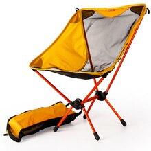 สวน Gaming Ultra Light เก้าอี้แบบพกพาที่นั่งสีเหลืองน้ำหนักเบาเก้าอี้ตกปลา Camping เก้าอี้พับกลางแจ้งเฟอร์นิเจอร์ 7075