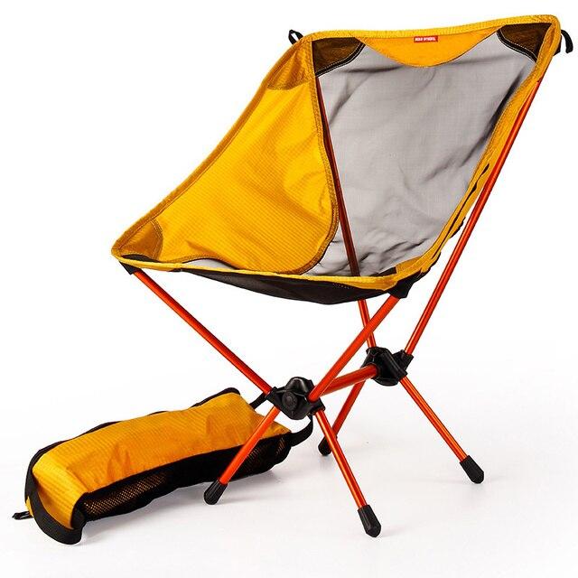 Sillas ultraligeras para juegos de jardín asiento amarillo portátil, silla de pesca ligera, taburete de Camping, muebles plegables para exteriores 7075