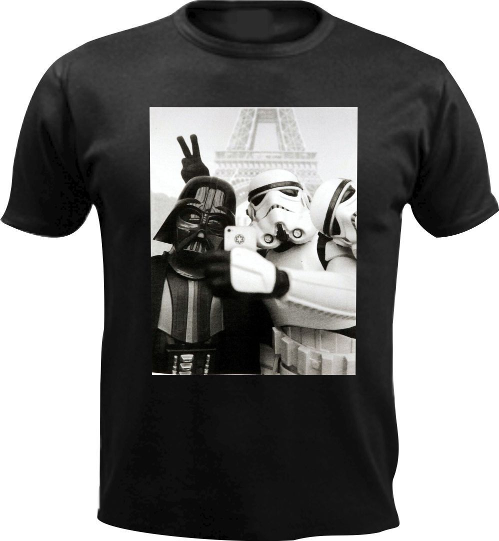 Darth Vader Star Wars Jedi Selfie Stormtrooper Funny Men T Shirt Birthday Gift Free Shipping  Harajuku Tops Fashion Classic