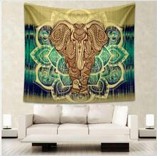 Enipate Elefante Indio Mandala Tapiz Tapices Aubusson Impresos de Colores Decoración Religiosa Boho Pared Alfombra de la Sala Manta