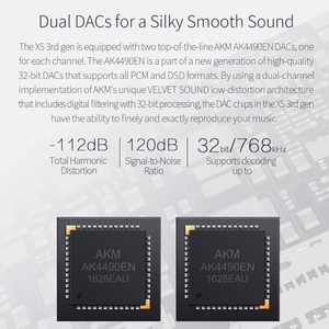 Image 4 - FIIO X5III X5 3nd Gen Android WIFI APTX podwójny AK4490 bezstratny przenośny odtwarzacz muzyki z wbudowanym pamięcią 32G