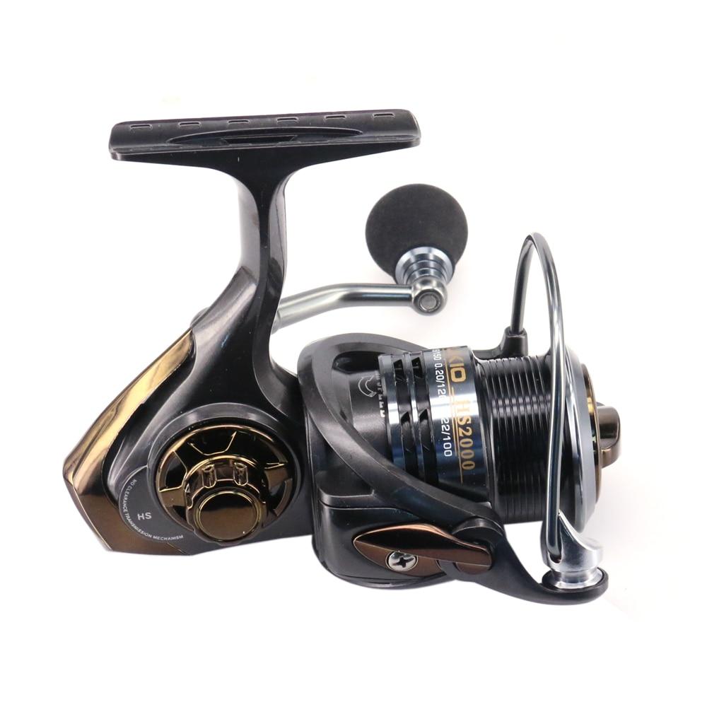 Spinning Reel Fishing HS2000/3000 En Aluminium Match Bobine Avec Haute Ratio 7.1: 1 Bobine Pour Chargeur Poignée En Caoutchouc Moulinets de pêche Pesca