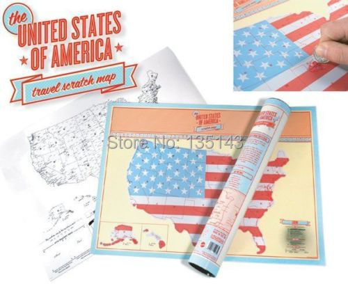 Gift Police Picture More Detailed Picture About SCRATCH OFF MAP - Free us map poster