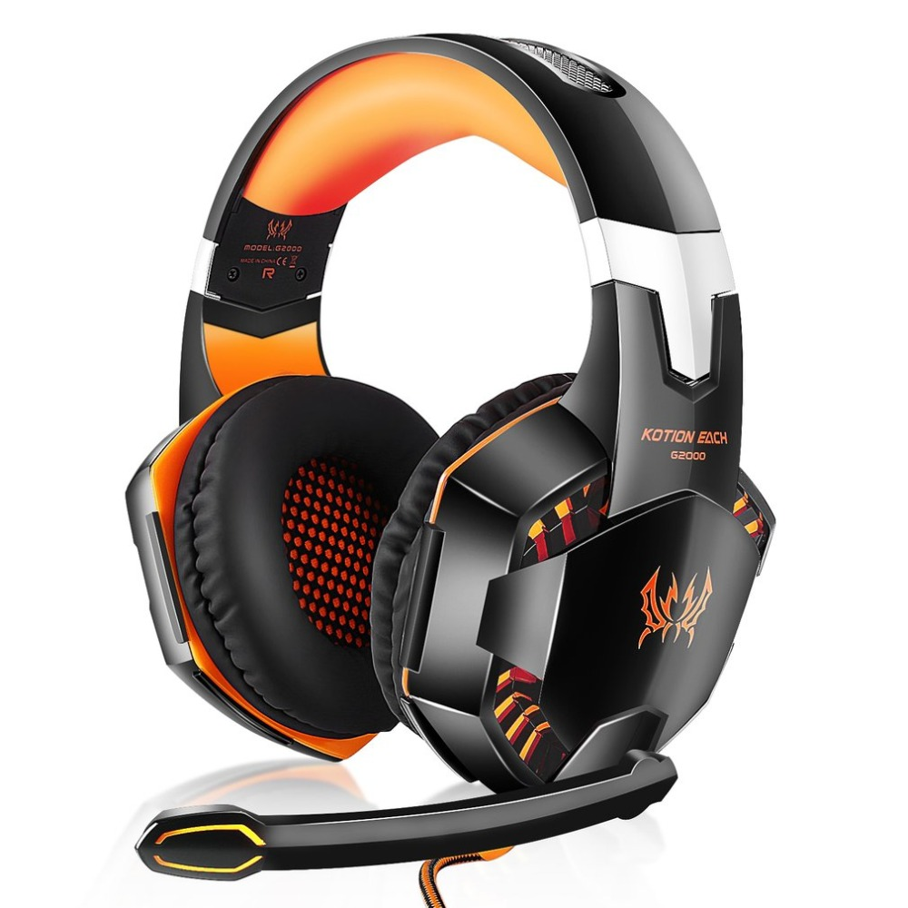 Over-ear Game Gaming Pro Headphone Headset Earphone Headband for G2000 with Stereo Bass Noise Cancelling