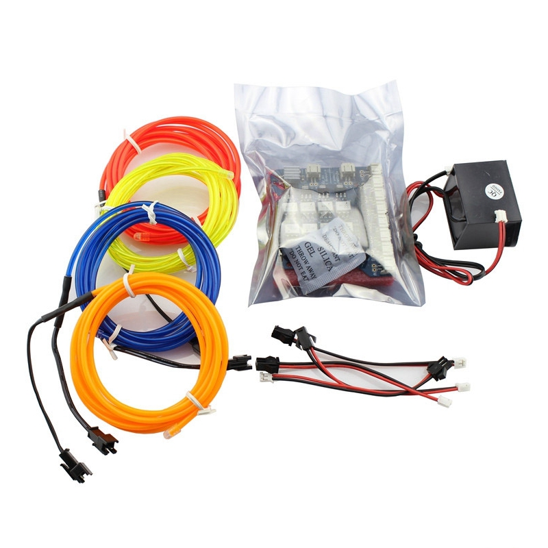 Elecrow 8-Channel EL Shield Kit for Arduino 5V Inverter EL Wires 2M Adaptor Electronic Luminescence Colorful LED DIY Project