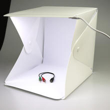 30cm Led Light Mini Photo Studio Box Photography LED Room Tent Tabletop Shooting Soft Accessories Backdrops Lightbox