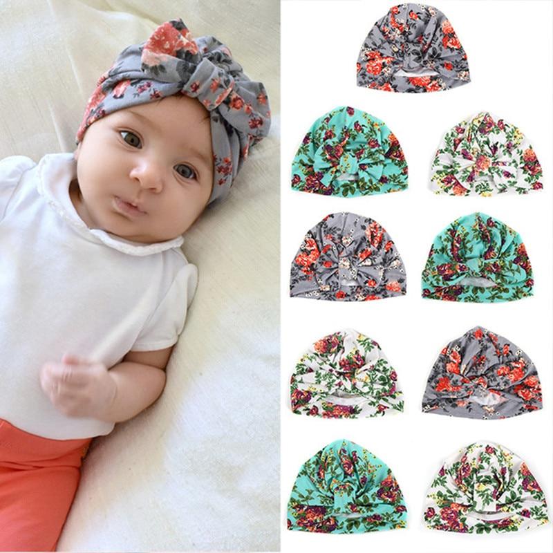 Accessories 1pcs Chosen Girls Soft Turban Bowknot/rabbit Ear/knot Cap Beanie Hat Floral India Hat Bohemian Hat Winter Childrens Caps Mother & Kids