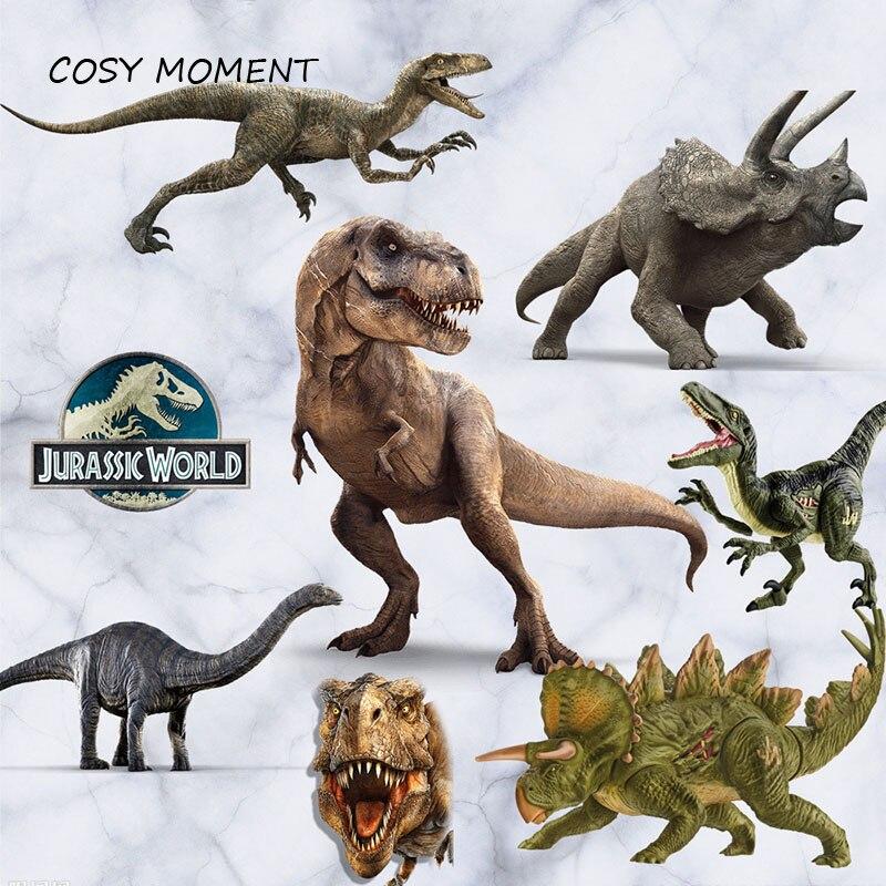 CONFORTABLE MOMENT Dinosaure Art Mural Autocollants Jurassique Monde Animal Dessin Animé 3D PVC Enfants Stickers Muraux QT554