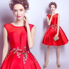 Buy floral dress red for wedding and get free shipping on AliExpress.com bec9071f7e80