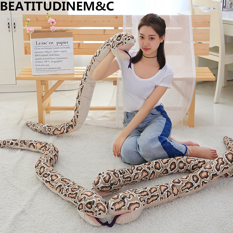 1Pcs 165cm Beauty and Snake Game Hand Puppet Plush Toys, Leopard Print Sexy Children Home Decoration, Gi