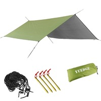 YUEDGE Brand Easy Set Up Portable Waterproof Camping Tarp Shelter Sunshade Rain Tarp Tent Tarp Hammock