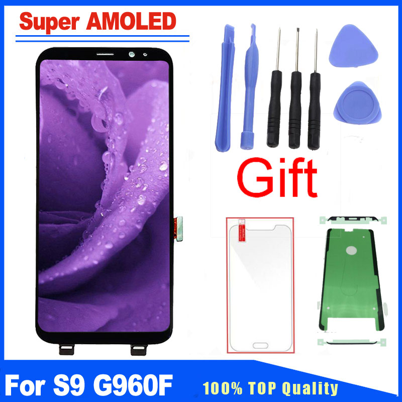 For Samsung Galaxy S9 SM-G960F G960 Super AMOLED LCD Display Touch Screen Digitizer Full Assembly Replacement Kits Free GlassFor Samsung Galaxy S9 SM-G960F G960 Super AMOLED LCD Display Touch Screen Digitizer Full Assembly Replacement Kits Free Glass