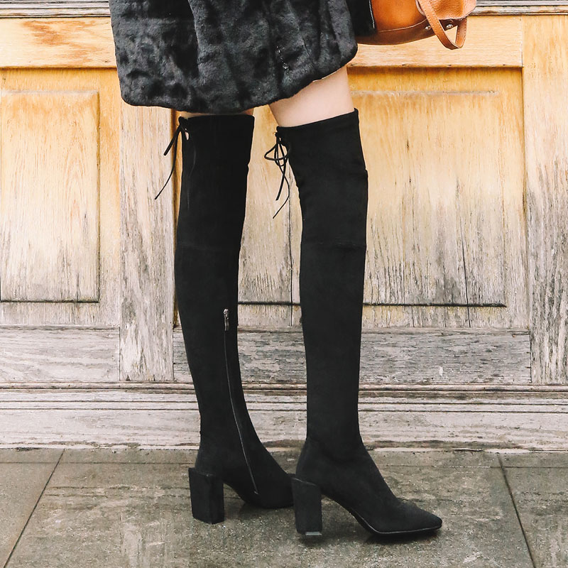 over the knee boots winter shoes women winter boots bottes d hiver pour femmes botas mujer bottine femme laarzen women's boots цены онлайн
