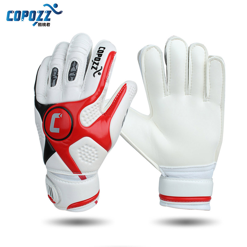 brand professional soccer goalkeeper gloves 4mm thick senior latex finger dual protection keeper glove