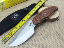 1pc 100% BUCK 076 440C Steel Color Wood Handle Camping Knife Hunting Knife Outdoor Survival Tools