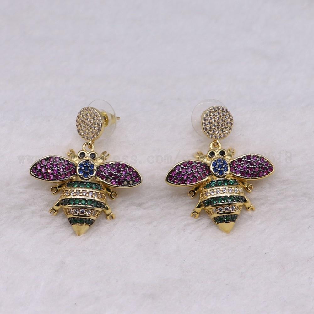 3 пары большой живот ошибок Серьги красочные насекомые Fly Би высокое качество подарок для леди насекомых Серьги ошибок Jewelry Серьги 3236