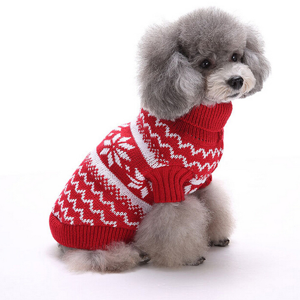 Clever 2017 Fashion Snowflake Fibre Print Pet Dog Puppy Dog Sweater Lights Dog Sweaters Target
