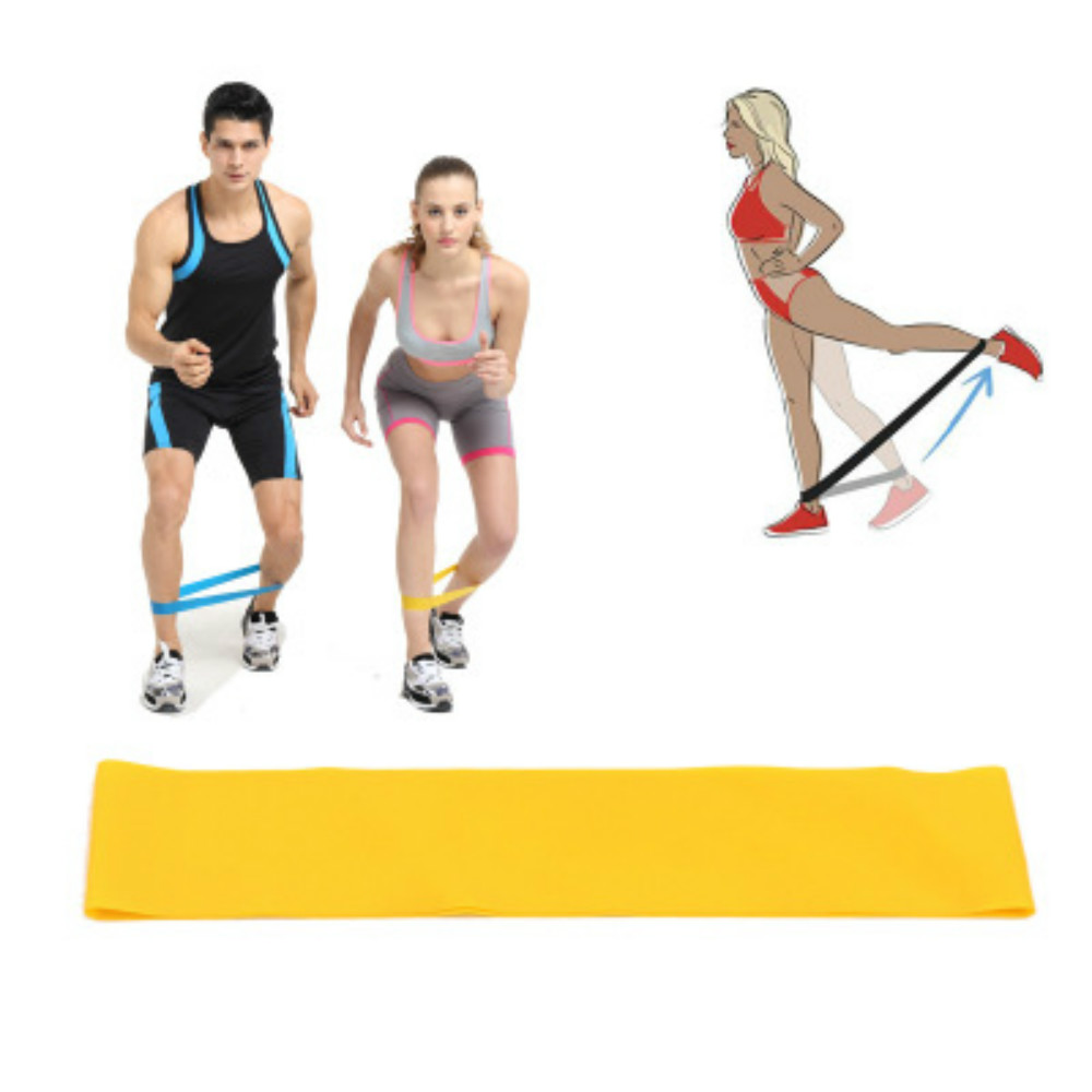Sport Resistance Bands Loop Exercise Yoga Elastic Workout BandExpander Muscle Weight loss Yoga pull ring Fitness Training 1pcs strength training