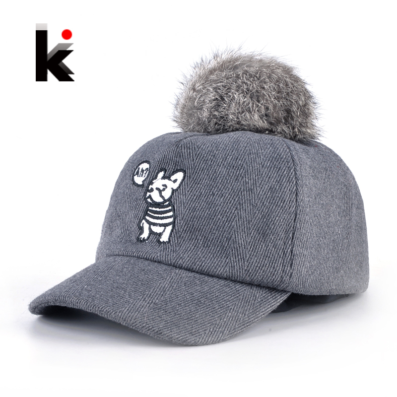 ce29d9277ee Children Baseball Caps Boys Cute Dog Embroidery Snapback Hats For Girls Real