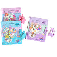 Gift Children Copybook Cartoon Butterfly Pattern Diary Book Mini Notepad Students Can Lock Password Notebook Random Color