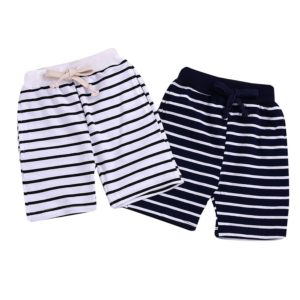2019 Summer Baby fashion clothes   short   pants for Girl boys Comfort Striped Print Lace-up   Shorts   Elastic Waist Pants Clothes